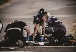The impact of road crash scenes on first responders